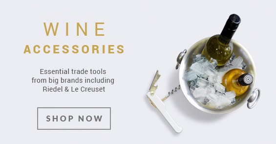 Wine Accessories from big brands including Riedel and Le Creuset