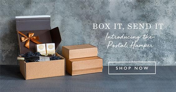 Box it, Send It. Introducing the postal hamper