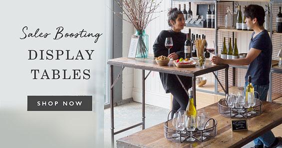 Sales boosting display tables