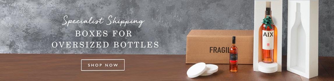 Boxes for oversized bottles