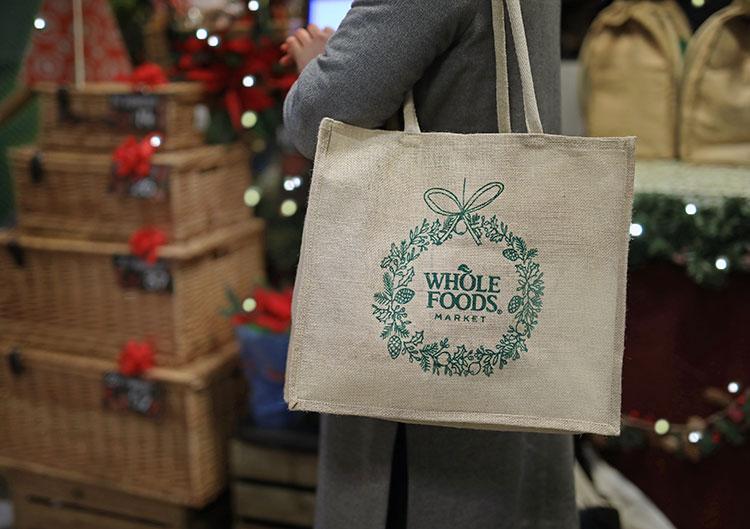 Wholefoods Market - Embroidered Jute Bag