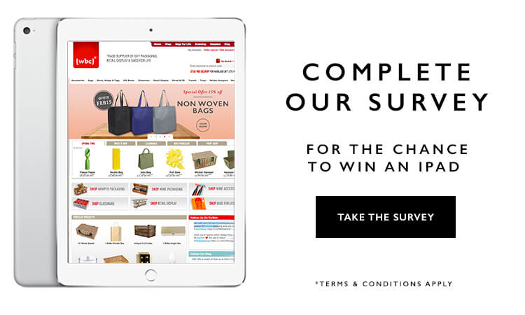 Complete our survey for the chance to win an iPad