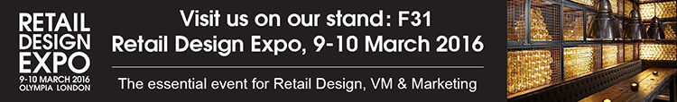 Visit us on our stand: F31 Retail Design Expo, 9-10 March 2016