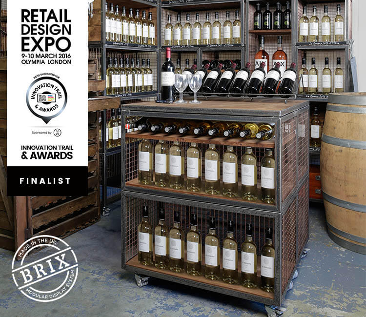 Brix : Finalist for the Innovation Trail Awards 2016.Retail Design Expo, 9-11 March 2016 Olympia London