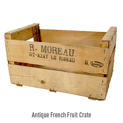 Antique French Fruit Crate