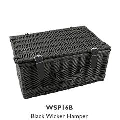 16 Inch Black Wicker Hamper (Limited Edition)
