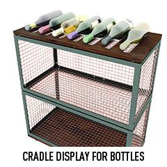 Wooden Cradle Display For Bottles