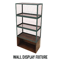 Single Wall Display Fixture with 4 shelves