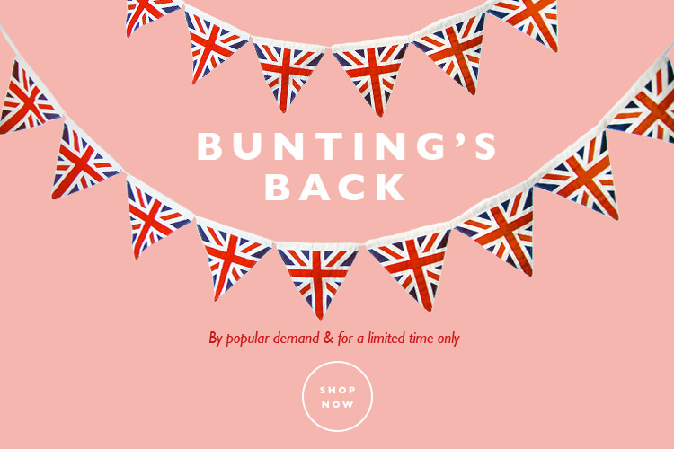 New bunting back by popular demand!