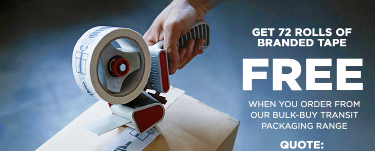 Get 72 Rolls Of Branded Tape FREE when you order from our Bulk-Buy Transit range Quote: