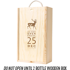 2 Bottle Wooden Box With 'Do Not Open' Lid
