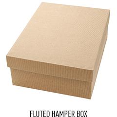 Fluted Hamper Box - Kraft