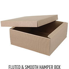 Large Square Natural Hamper Box with Lift Off Lid