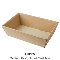 Medium Kraft Fluted Card Tray