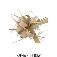 Raffia Pull Bow - Kraft