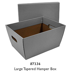 Tapered Hamper Carton with Lid - Silver Grey
