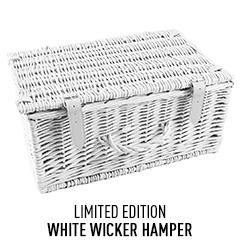 White Wicker Hamper (Limited Edition)