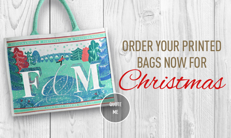 Order your printed bags for Christmas now