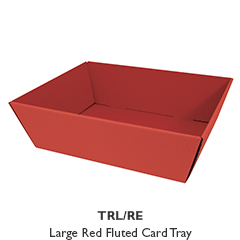 Large Red Fluted Gift Tray