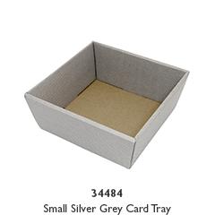 Small Silver Grey Card Tray