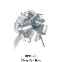 Large Raffia Pull Bow - Silver