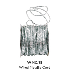 Wired Metallic Cord - Silver