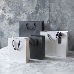 Black and white luxury gift bags