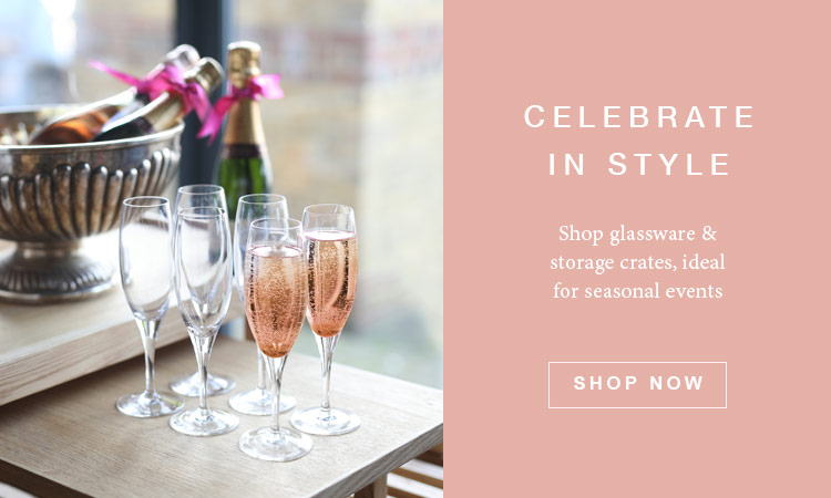 mothers day glassware & storage crates