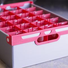 glass storage crates