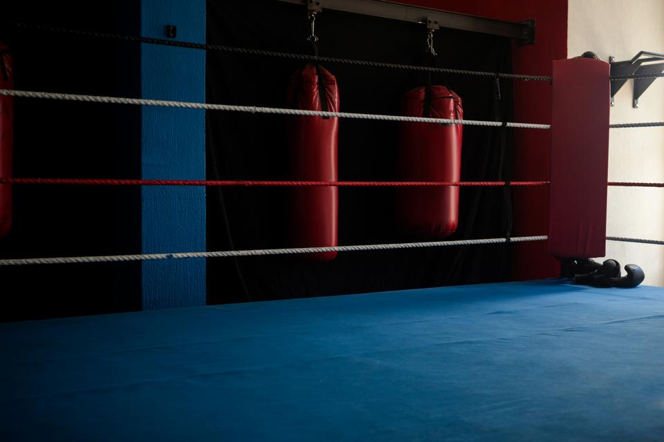 """Empty boxing ring"" stock image"
