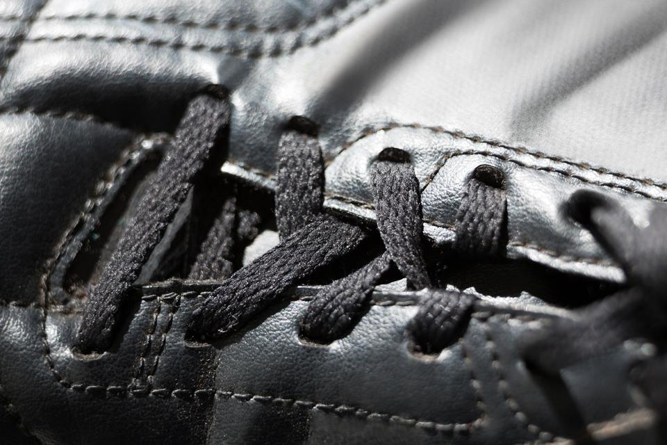 """""""Close-up of cleat"""" stock image"""