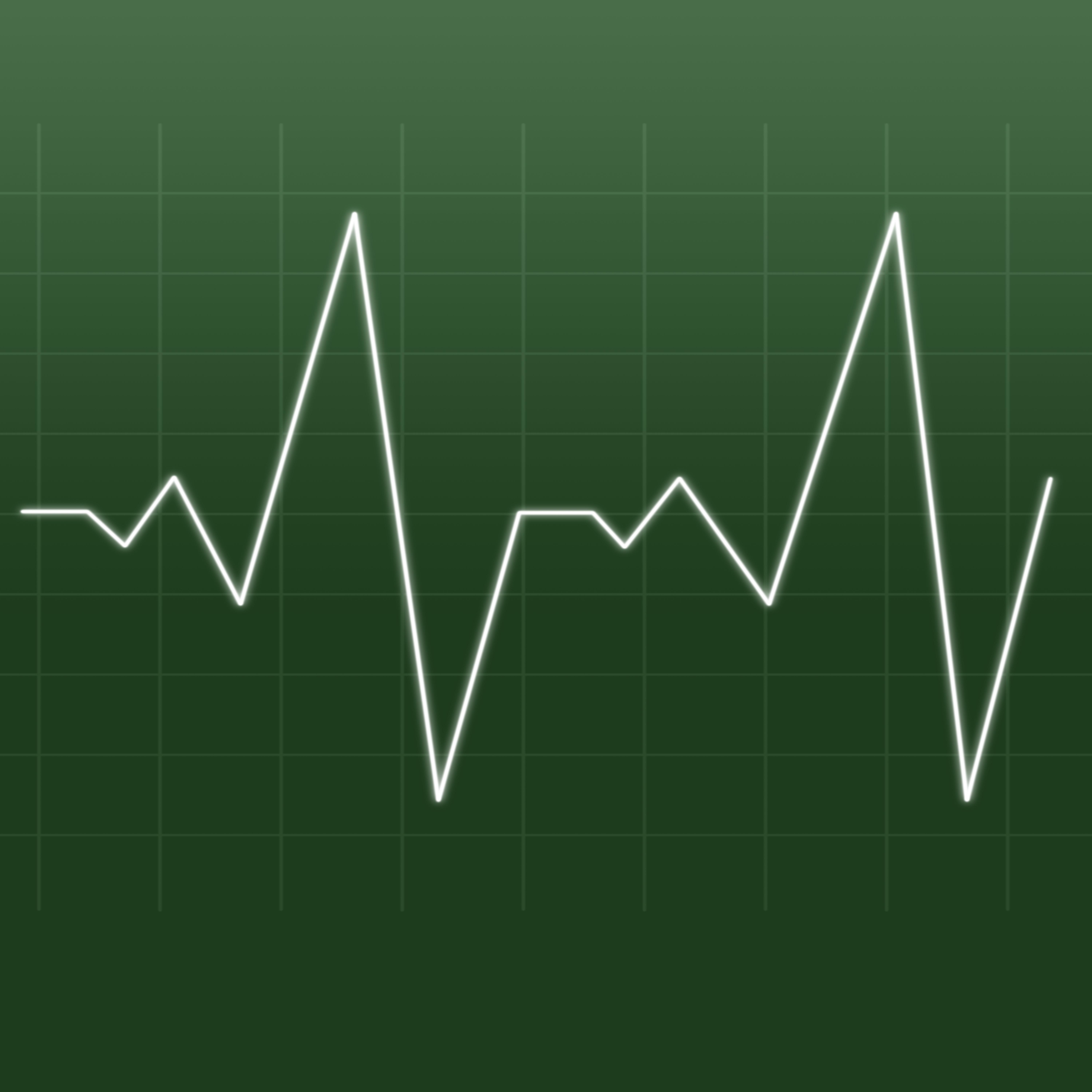 """Heartbeat being drawn by a white line"" stock image"