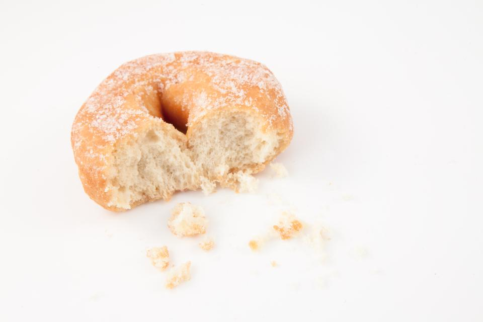 """Doughnut with crumbs"" stock image"