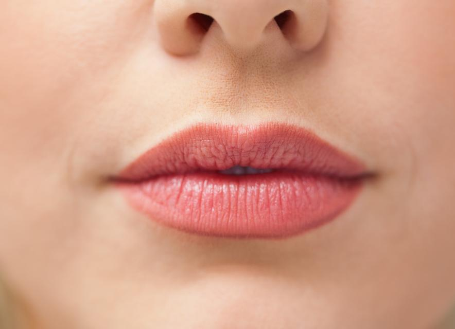 """""""Close up of lips with lipstick on them"""" stock image"""