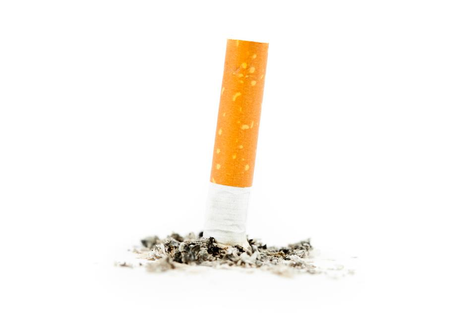 """Cigarette extinguished"" stock image"