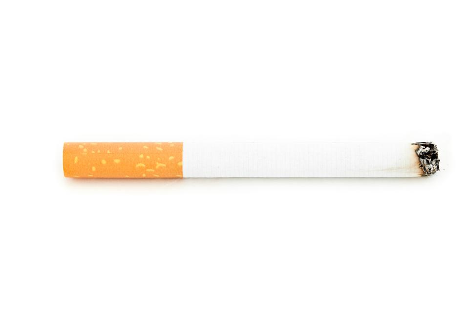 """Close up of a cigarette lighted"" stock image"