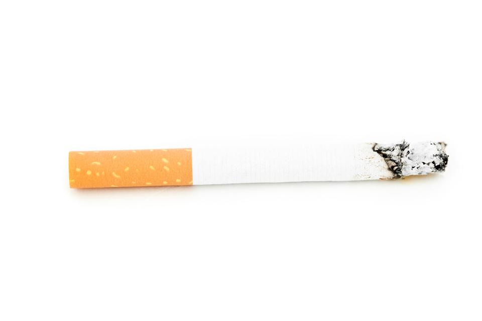 """Close up of a cigarette consumed"" stock image"