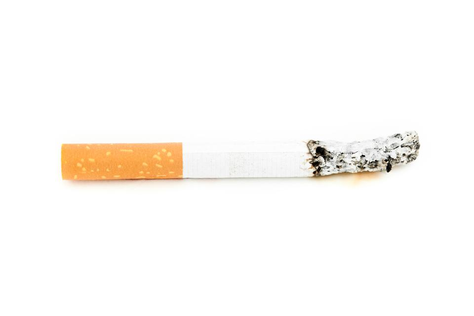 """Cigarette consumed"" stock image"