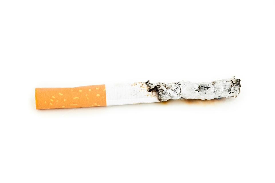 """Close up of a cigarette extinguisched"" stock image"