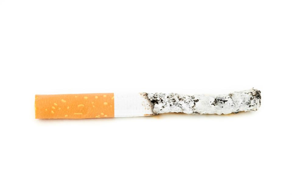 """Close up of cigarette put out"" stock image"