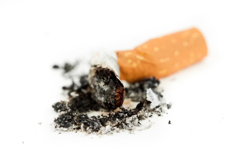 """Close up of a cigarette put out"" stock image"