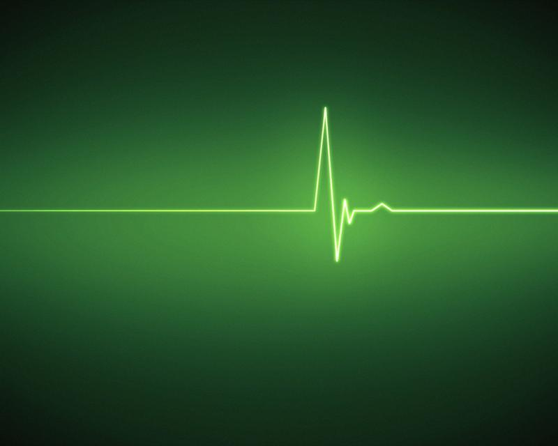 """Green ECG heartbeat"" stock image"
