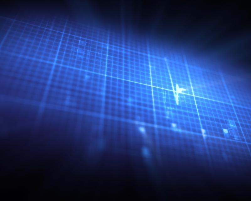 """Blue grid with ECG heartbeat"" stock image"