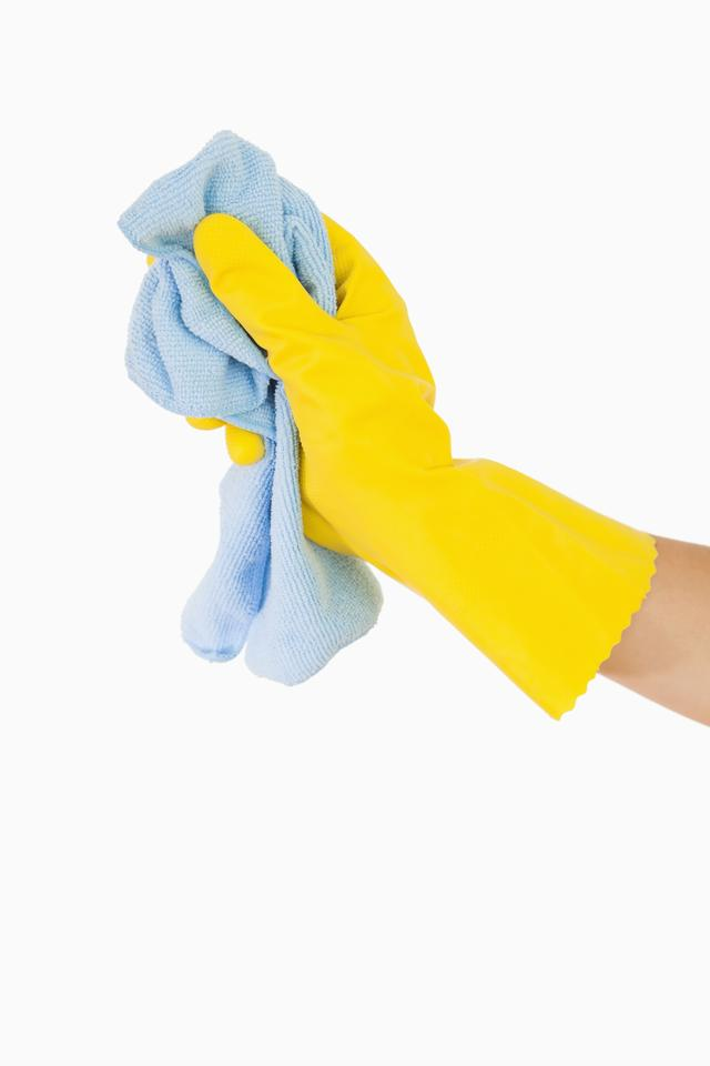 """""""Hand cleaning with rag"""" stock image"""