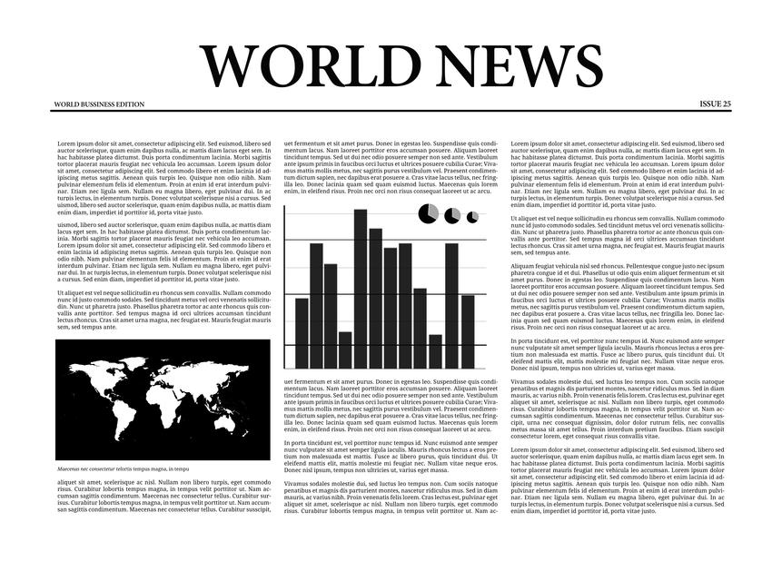 """World news newspaper"" stock image"