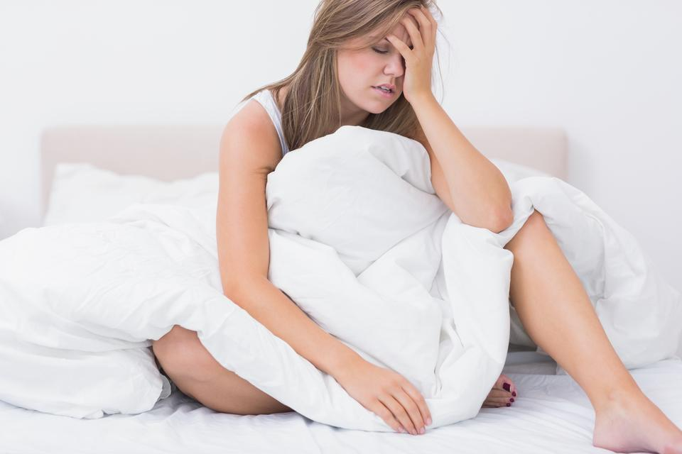 """Woman has just waking up"" stock image"
