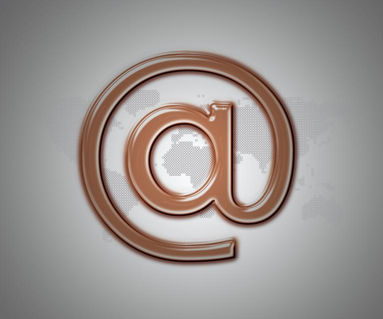 """Bronze email at symbol"" stock image"