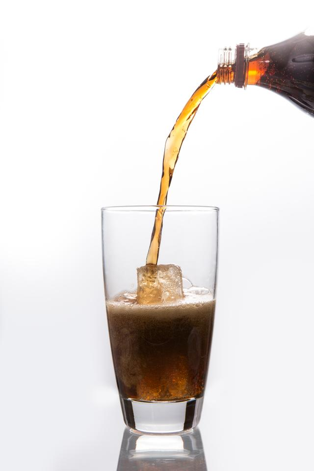 """""""Soda pouring into glass"""" stock image"""