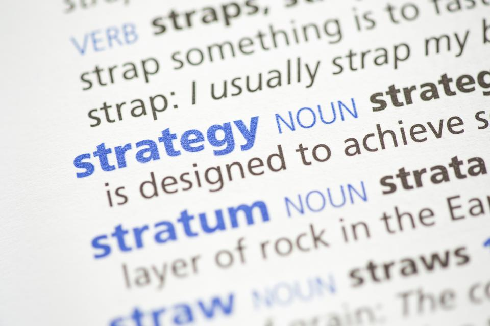 """Strategy definition"" stock image"
