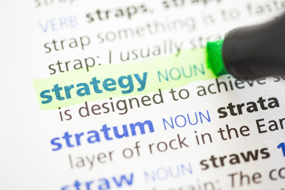 """Strategy definition highlighted"" stock image"